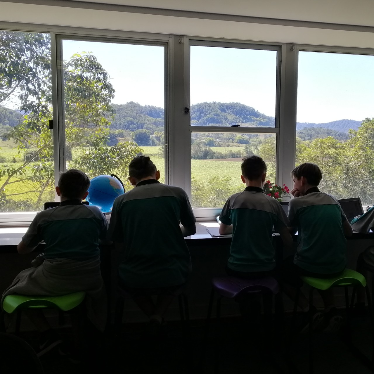 The view from the library